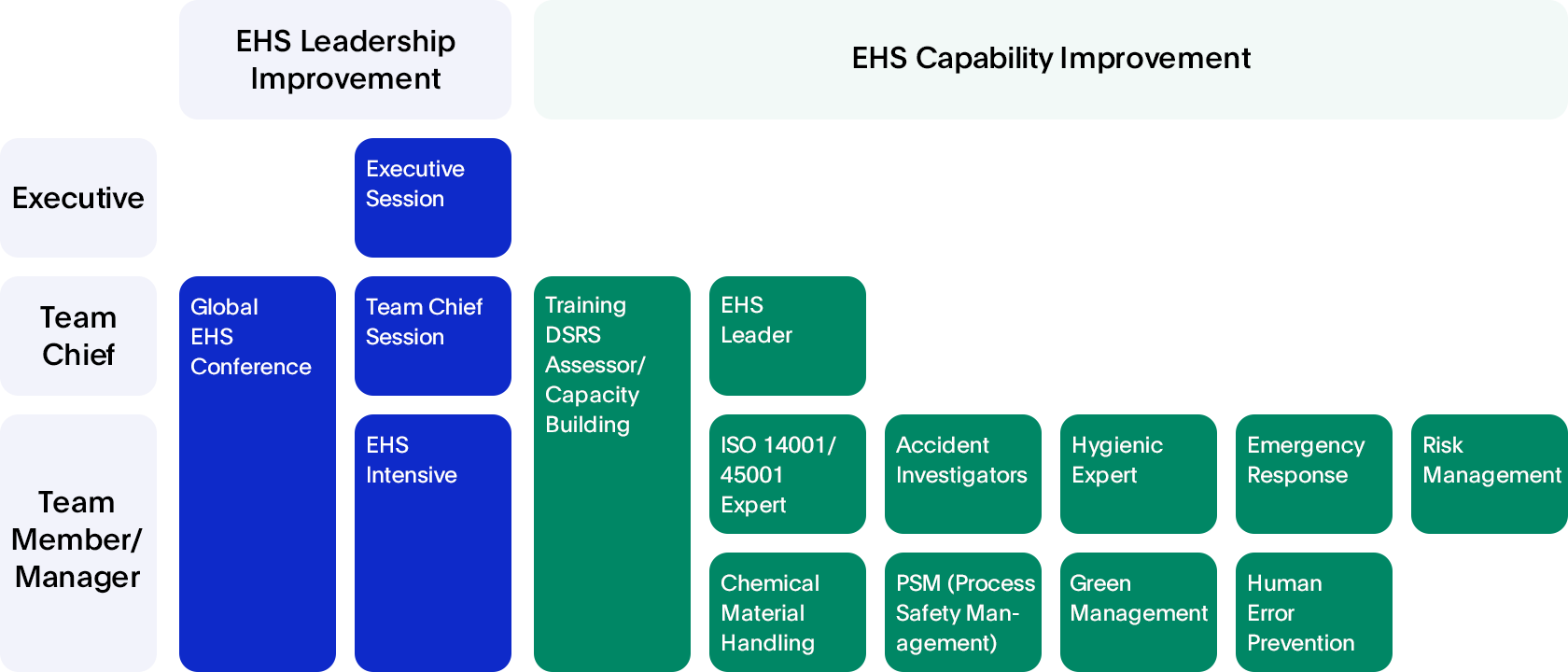 EHS Training Program Image – EHS Leadership Improvement, EHS Capability Improvement