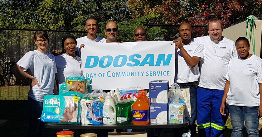 Doosan Day of Community Service 2