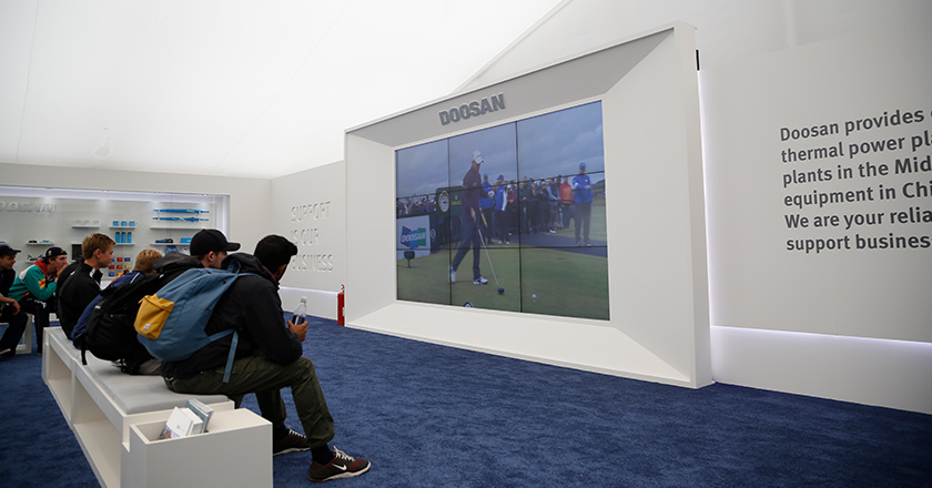 The Open Championship promotion booth, 2015