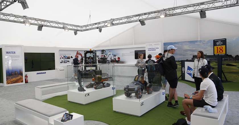 The Open Championship promotion booth, 2016